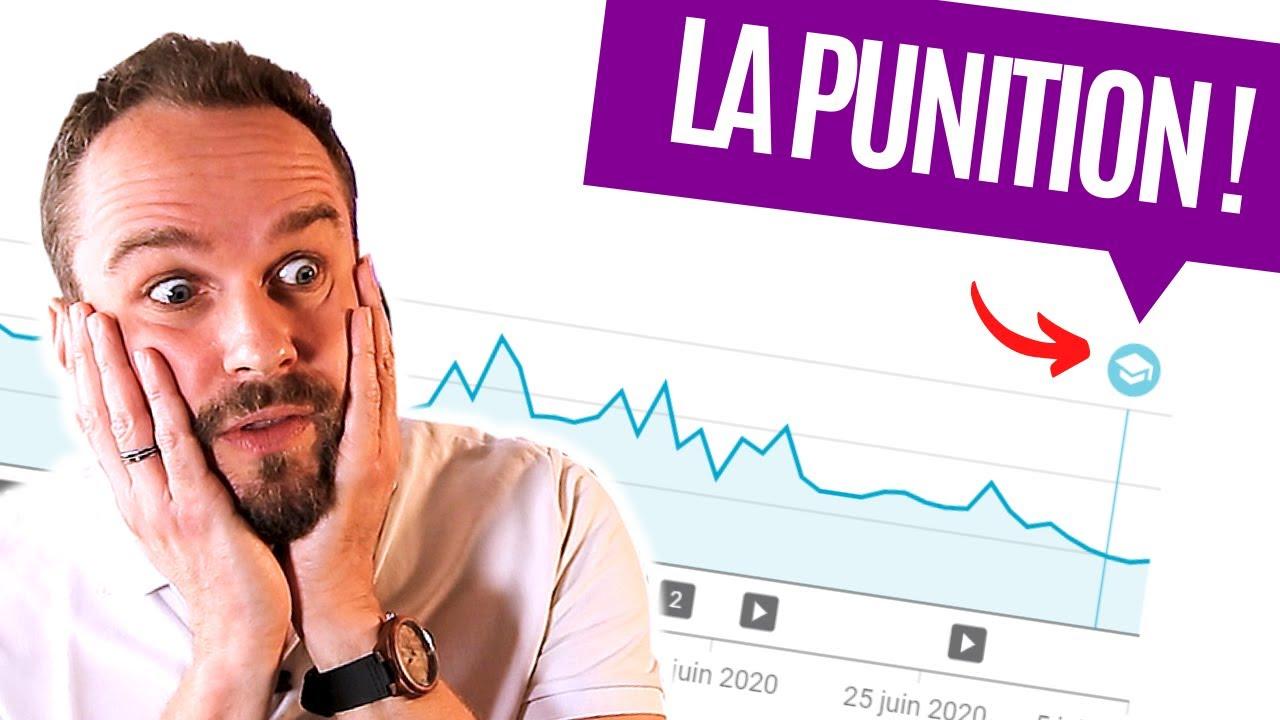 Moins de vidéos = punition de YouTube !